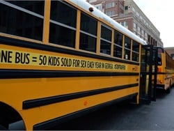 As part of a campaign to raise awareness of human trafficking, Gwinnett County (Ga.) Public Schools supplied and wrapped 72 of its buses, each intended to represent 50 of the 3,600 children who are trafficked in the state each year.