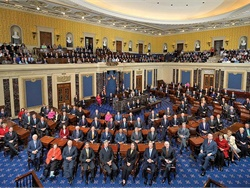 The 2016 election brought a new administration along with seven new senators and 56 new representatives to Washington, D.C. Shown here is the U.S. Senate.