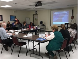 Shenendehowa Central Schools transportation staff participated in a two-hour training workshop led by the Transportation Security Administration on March 7. Photo courtesy Shenendehowa Central Schools