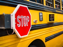Allentown (Pa.) School District identified a total of 205 illegal passing incidents over 47 days after installing stop-arm cameras on two of its buses. Photo courtesy BusPatrol