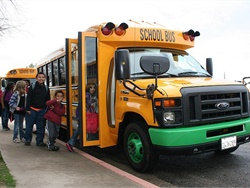 In addition to having its electric powertrain in Trans Tech's SSTe Type A school bus, shown here, Motiv Power Systems' powertrain will also be in the Starcraft eQuest XL, which can seat 48 passengers.