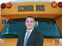 Michael Martucci launched Quality Bus Service shortly after graduating from college, and he served as the company's first bus driver.