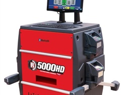 The R5000HD Commercial Truck Alignment System can eliminate the need for rolling compensation, according to Rotary.
