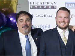 SBF is accepting nominations for the 2019 Contractor of the Year award. Seen here on the left is 2018 recipient Michael Tornabe of Logan Bus Co. in New York.