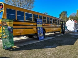Blue Bird displayed its Vision Propane school bus at the Atlanta Science Festival to educate students about the bus's technology. Photo courtesy Blue Bird
