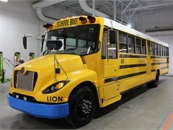 Central Unified School District's two new buses have a 100-mile range on a full battery charge, according to the school district. Photo courtesy Jason Smithberg