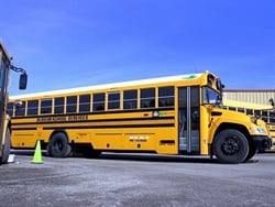 Durham School Services' location in Spokane, Washington, teamed up with Spokane Public Schools to unveil 54 new propane-powered school buses. Photo courtesy Spokane Public Schools