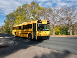 Mobile connectivity solutions supplier Kajeet is partnering with IC Bus and OnCommand Connection to provide more students with filtered Wi-Fi service while on the school bus. Shown here is an RE Series IC Bus.