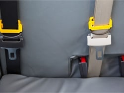 State lawmakers introduced a bill that would require all new school buses to come equipped with seat belts and electronic stability control and collision avoidance systems. Photo courtesy Des Moines (Iowa) Public Schools