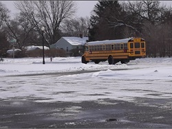 "South Bend (Ind.) Community School Corp. is using its buses to drive homeless residents to sites around the city during the ""deep freeze."" Screenshot above is from a video posted on the district's Facebook page"