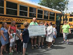 Ted Quatman, a driver for Harford County (Md.) Public Schools, donated his $500 early retirement incentive to the district's autism program after driving for nine years. Photo courtesy Harford County Public Schools