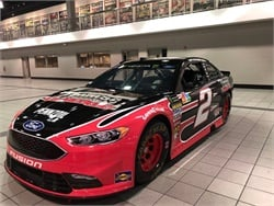 Thomas Built Buses will sponsor Brad Keselowski as he drives the No. 2 Thomas Built Buses Ford Fusion (shown here) in the First Data 500 race.