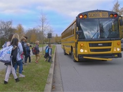 "Williamson County (Tenn.) Schools teamed up with local law enforcement agencies to release a series of PSAs addressing school bus safety concerns. The screenshot above is from the ""It's Yellow for a Reason"" PSA posted on the district's Facebook page."