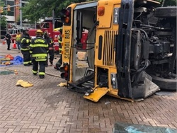 The Virginia Association for Pupil Transportation showcased a mock school bus accident during its 42nd Annual Conference and Trade Show held June 16 to 20, in Richmond, Va.