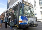 Transit partners with ridesharing services to create multimodal options