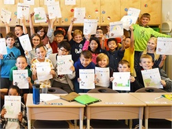 Safe Fleet has launched its fourth annual United Against Bullying Coloring Contest. Pictured here are students in British Columbia, Canada, who participated in the contest last year.