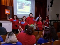 "San Antonio ISD's back-to-school training included a ""Family Feud"" session with safety questions."