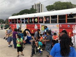 More than 1,000 students and parents visited the bus, Nathan Graf, the district's senior executive director of transportation, told SBF.