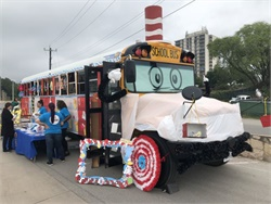 San Antonio (Texas) Independent School District transformed one of its school buses into the likeness of the main character from the Dr. Seuss book for a district event highlighting summertime activities.