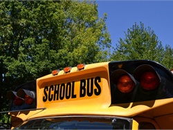 As many schools across the U.S. close due to the Coronavirus (COVID-19), some districts use Wi-Fi-enabled school buses to assist students in the transition to online learning. File photo