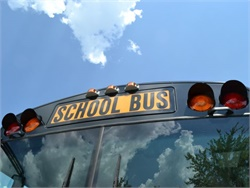 A new regulation requires Wisconsin school buses built after Jan. 1, 2005, to have amber lights to alert motorists that the bus is about to stop.