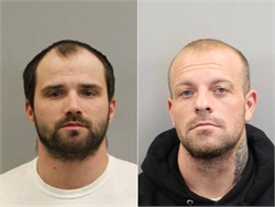 Daniel Beitzel (left) is charged with stealing batteries from buses at four schools in Randolph County, North Carolina. Christopher Pauley is accused of the same crime at another local school.