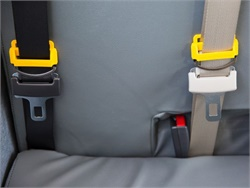 A proposal in Texas calls for three-point belts on new school buses, but school boards could opt out due to budgetary constraints. Photo courtesy Des Moines (Iowa) Public Schools