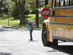 Counties in North Carolina can now pass local ordinances that authorize stop-arm cameras to be used for civil enforcement of school bus passing violations. File photo courtesy NHTSA