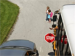 Legislation filed in Florida targets motorists who cause serious injury or death while committing a school bus stop-arm violation. Staged photo by Brevard Public Schools