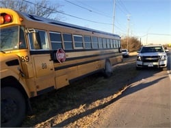 Wrong-way truck driver arrested after hitting school bus