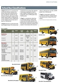 Bus, Chassis, and Engine Specifications 2017