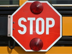 Some Ohio pupil transportation officials  back law enforcement's safety concerns about a plan to stop requiring front license plates on vehicles. They cite a reduced chance of identifying stop-arm runners. File photo