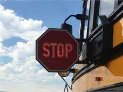 Stop-arm awareness efforts at the local level, combined with a national push, will go a long way in making sure motorists know what to do when they come to a stopped school bus. Photo courtesy Sheridan County (Wyo.) School District