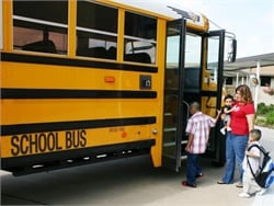 The governor of Texas approved a measure that requires lap-shoulder belts on new school buses, but districts can opt out due to financial constraints. File photo from Spring ISD