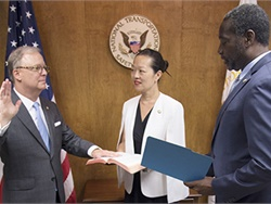 Robert Sumwalt has been sworn in as the National Transportation Safety Board's 14th chairman. Photo courtesy NTSB
