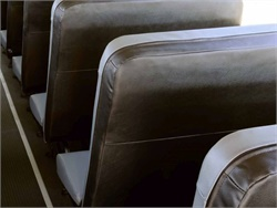 Black back seat covers for SynTec's S3B and S3C school bus seats can help reduce vandalism, according to the supplier.