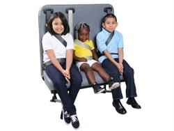 Des Moines Public Schools' seat belt study will involve two Thomas Built C2 buses equipped with SynTec's S3C seats, seen here.
