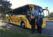 CH Bus Sales delivers 2 TS 35s to Texas' Sun Travel Trailways