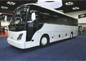 The Temsa TS 35E mid-size coach offers a spacious interior for both passengers and the driver, with an integral construction that ensures a smooth and stable ride. The vehicle is built on a Cummins-Allison driveline and offers European quality and craftsmanship, as well as standard features including a high-performance A/C system, an enclosed parcel rack, and a welcoming entrance.