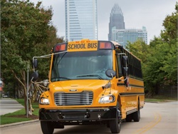 School districts throughout Michigan will begin the school year with 92 new Thomas Built Buses Saf-T-Liner C2 school buses. Photo courtesy Thomas Built Buses