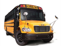 The head of a school bus dealership issued a response to a recent recall of some school buses due to a potential seating issue. Shown here is a Saf-T-Liner C2 bus. File photo courtesy Thomas Built Buses