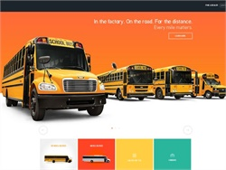 Thomas Built Buses' new site incorporates a dynamic design and a news service feed, along with product-related offerings.