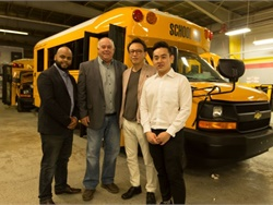 Trans Tech partnered with Seoul-based J.S. Alliance to export one of its SST school buses to South Korea.
