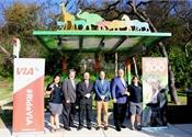 San Antonio's VIA unveils zoo-themed bus stop shelters
