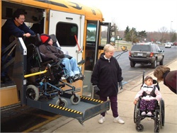 SBF's Special-Needs Survey covers such topics as student ridership, driver pay, and special-needs bus equipment. File photo courtesy University of Michigan