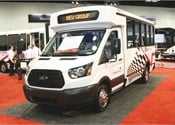 REV officially unveiled World Trans, a new transit bus brand after a soft launch of its narrow-body T-Series model at the APTA Bus & Paratransit Conference in May. The T-Series is built on a Ford Transit cutaway chassis and has seating for 14, plus rear luggage storage.