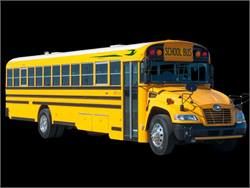 Blue Bird will begin production of its first Type C Vision school bus fueled by compressed natural gas next year.
