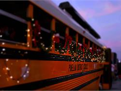 PHOTOS: Buses, drivers get festive for holidays