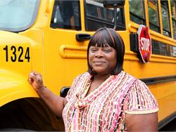 Yvonne Wilson, a bus driver for Jefferson County Public Schools, saved a choking student with a one-handed Heimlich maneuver.