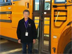 Charlene Beaderstadt has worked for the transportation department at Johnston (Iowa) Community School District for 47 years.